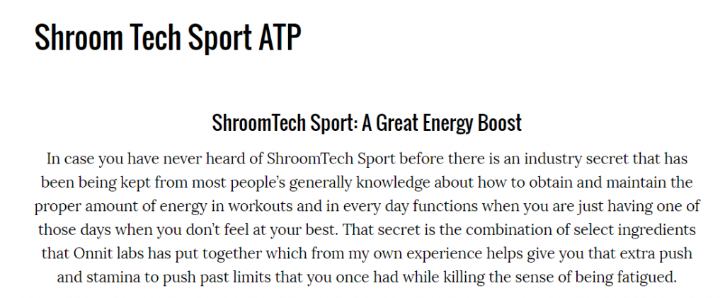 ShroomTech Sport Review